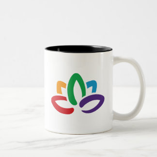 "De la ""taza flor de Lotus"" de la yoga Taza De Dos Tonos"