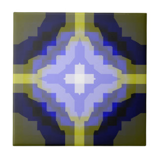 """De la """"tejas bandera de Suecia"""" del Matemáticas-AR Azulejo Cuadrado Pequeño"""