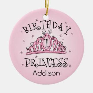 De la tiara 1r cumpleaños ornamento del recuerdo d ornamento de reyes magos