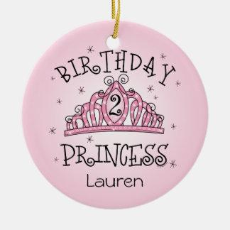 De la tiara 2do cumpleaños ornamento del recuerdo  adornos de navidad