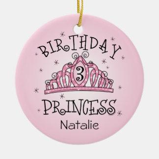 De la tiara 3ro cumpleaños ornamento del recuerdo  ornamentos de navidad
