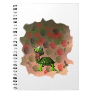 De la tortuga de la lengua parte posterior loca de spiral notebooks