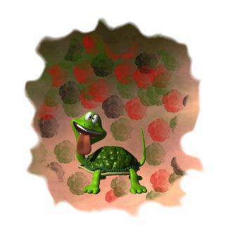 De la tortuga de la lengua parte posterior loca de fotoescultura vertical