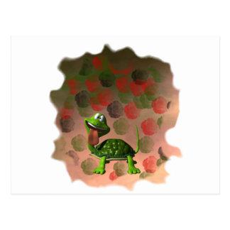 De la tortuga de la lengua parte posterior loca de tarjetas postales