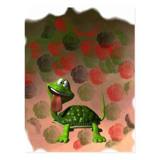 De la tortuga de la lengua parte posterior loca de tarjeta postal