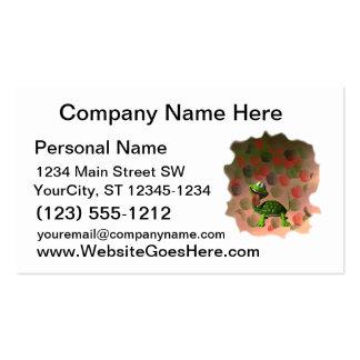 De la tortuga de la lengua parte posterior loca tarjetas de visita