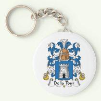De la Tour Family Crest Keychain