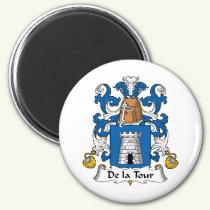 De la Tour Family Crest Magnet