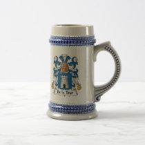 De la Tour Family Crest Mug