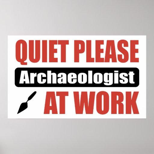 De la tranquilidad arqueólogo por favor en el trab impresiones