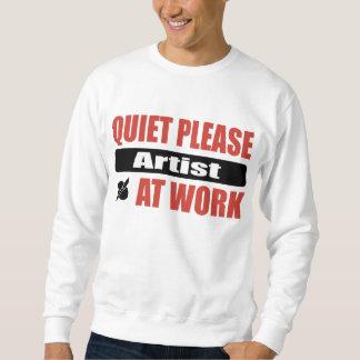 De la tranquilidad artista por favor en el trabajo sudadera con capucha