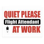 De la tranquilidad asistente de vuelo por favor en tarjetas postales