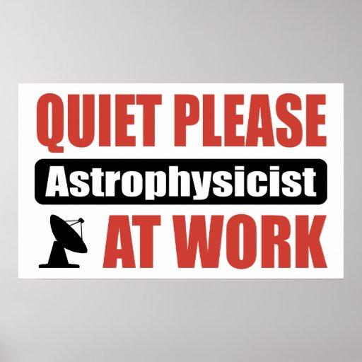 De la tranquilidad astrofísico por favor en el tra póster