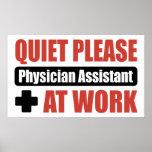 De la tranquilidad ayudante del médico por favor e poster