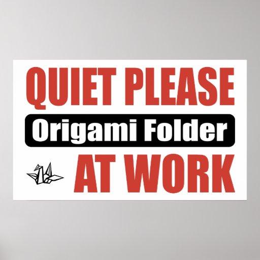 De la tranquilidad carpeta de Origami por favor en Impresiones