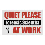 De la tranquilidad científico forense por favor en impresiones