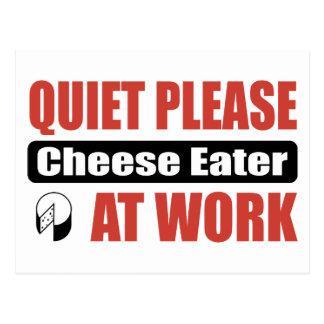 De la tranquilidad comedor del queso por favor en postal