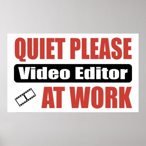 De la tranquilidad editor de vídeo por favor en el posters