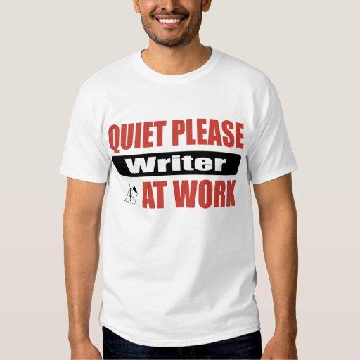De la tranquilidad escritor por favor en el playeras