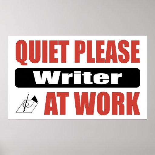 De la tranquilidad escritor por favor en el trabaj impresiones