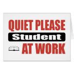 De la tranquilidad estudiante por favor en el trab felicitaciones