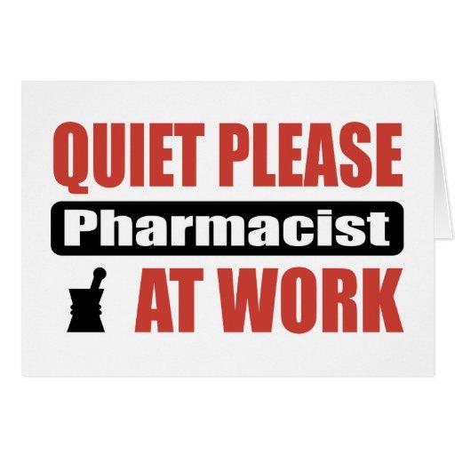 De la tranquilidad farmacéutico por favor en el tr tarjeta de felicitación