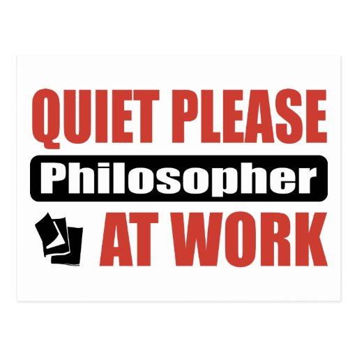 De la tranquilidad filósofo por favor en el postal