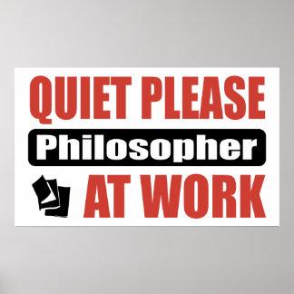 De la tranquilidad filósofo por favor en el trabaj póster