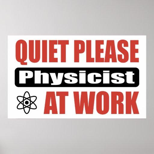 De la tranquilidad físico por favor en el trabajo póster