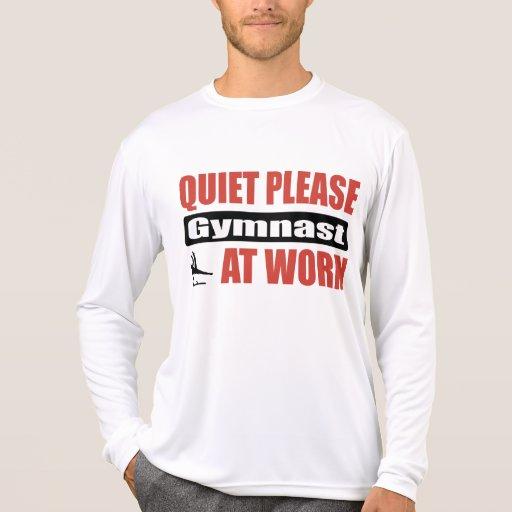 De la tranquilidad gimnasta por favor en el camiseta