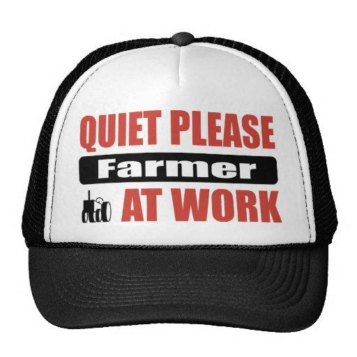 De la tranquilidad granjero por favor en el trabaj gorro