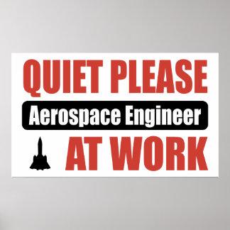 De la tranquilidad ingeniero aeroespacial por favo poster