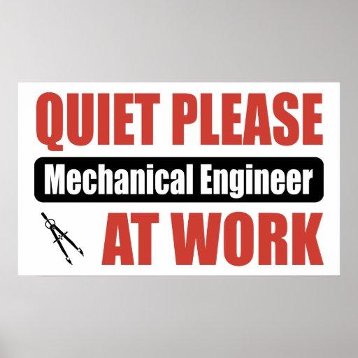 De la tranquilidad ingeniero industrial por favor  póster