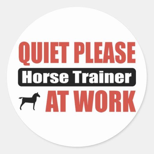 De la tranquilidad instructor de caballo por favor etiqueta redonda