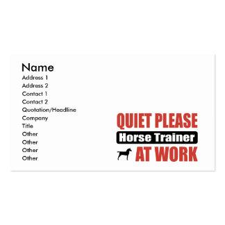 De la tranquilidad instructor de caballo por favor tarjetas de visita