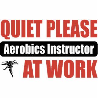 De la tranquilidad instructor de los aeróbicos por escultura fotográfica
