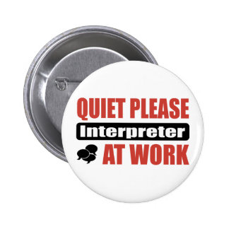 De la tranquilidad intérprete por favor en el trab pin redondo 5 cm