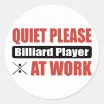 De la tranquilidad jugador de billar por favor en  pegatina