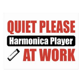 De la tranquilidad jugador de la armónica por postales