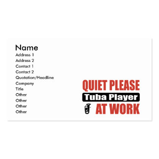 De la tranquilidad jugador de la tuba por favor en plantilla de tarjeta personal