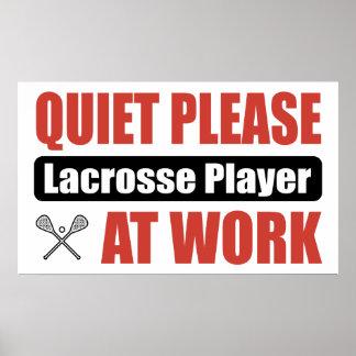 De la tranquilidad jugador de LaCrosse por favor e Posters