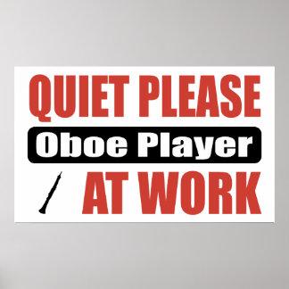 De la tranquilidad jugador de Oboe por favor en el Poster