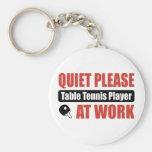 De la tranquilidad jugador de tenis de mesa por fa llaveros personalizados