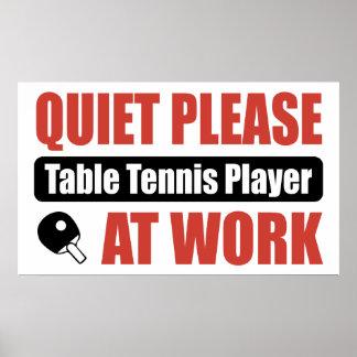 De la tranquilidad jugador de tenis de mesa por fa impresiones