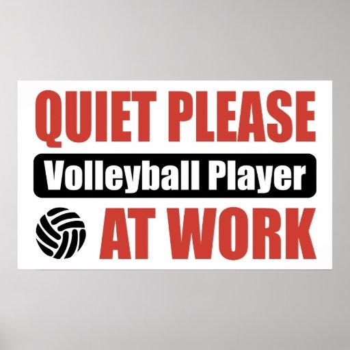 De la tranquilidad jugador de voleibol por favor e posters
