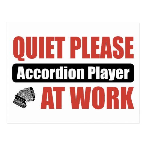 De la tranquilidad jugador del acordeón por favor  postales