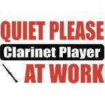 De la tranquilidad jugador del Clarinet por favor  Adorno Fotoescultura