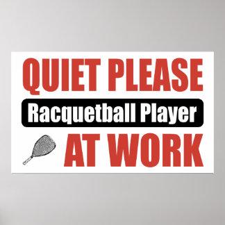 De la tranquilidad jugador del Racquetball por fav Posters
