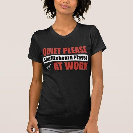 De la tranquilidad jugador del Shuffleboard por fa Camiseta
