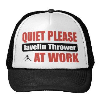De la tranquilidad lanzador de jabalina por favor  gorros bordados